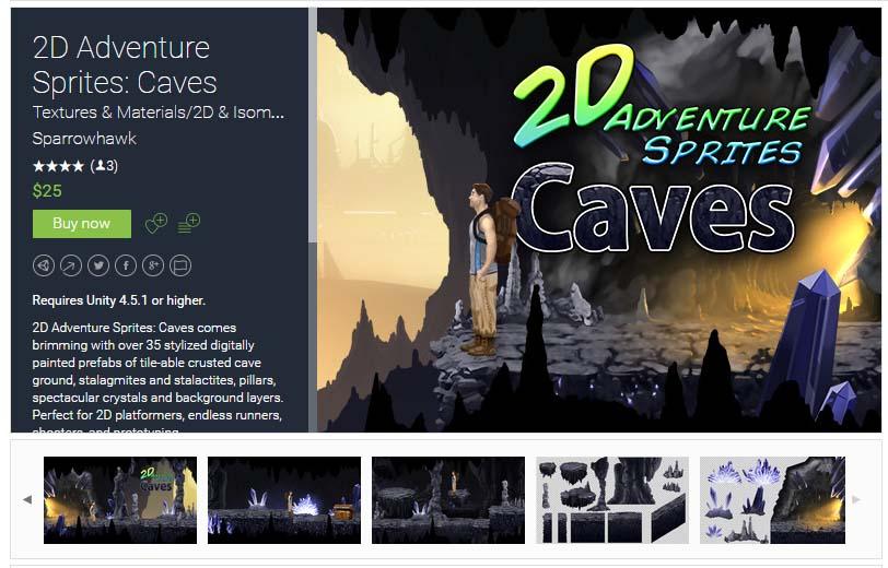 2D Adventure Sprites: Caves