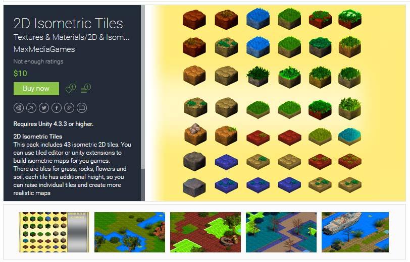 2D Isometric Tiles