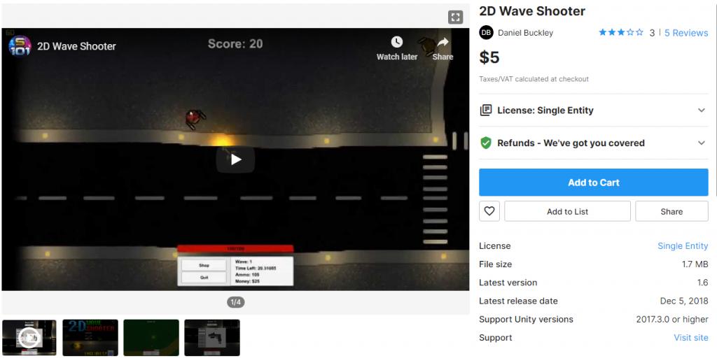 2D Wave Shooter