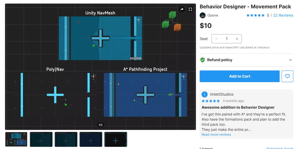Behavior Designer - Movement Pack Free Download Unity Assets