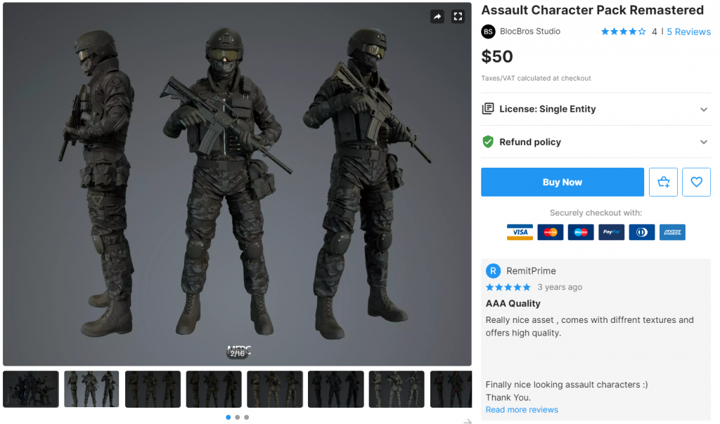 Assault Character Pack Remastered