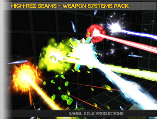 High-Rez Beams - Weapon Systems Pack