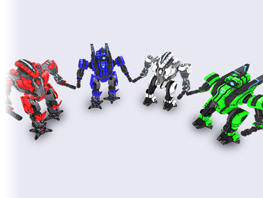 Low Poly Animated Robots