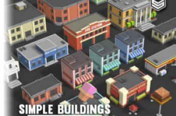 Simple Buildings - Cartoon City