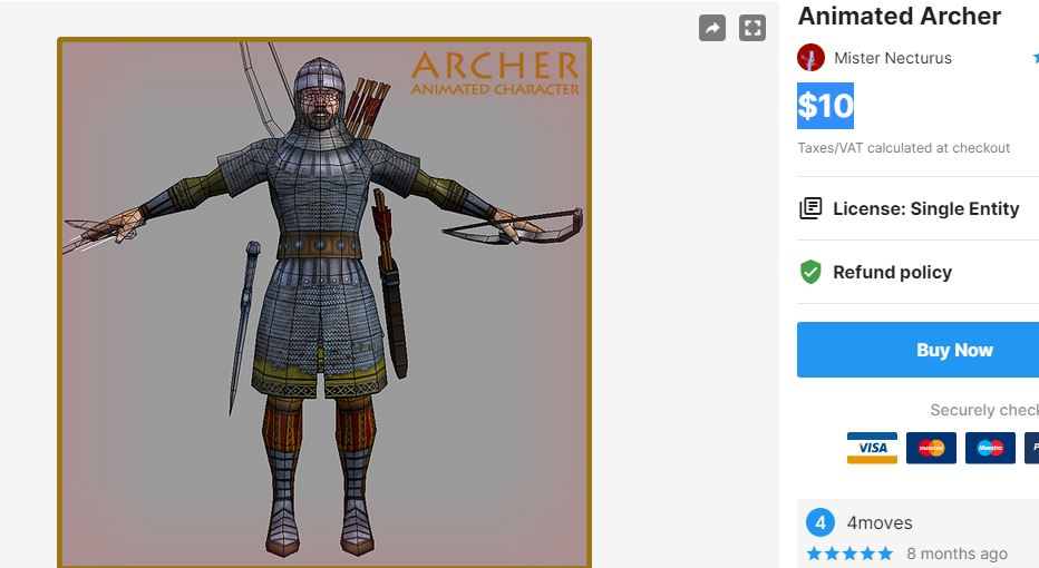 Animated Archer – Free Download Unity Assets