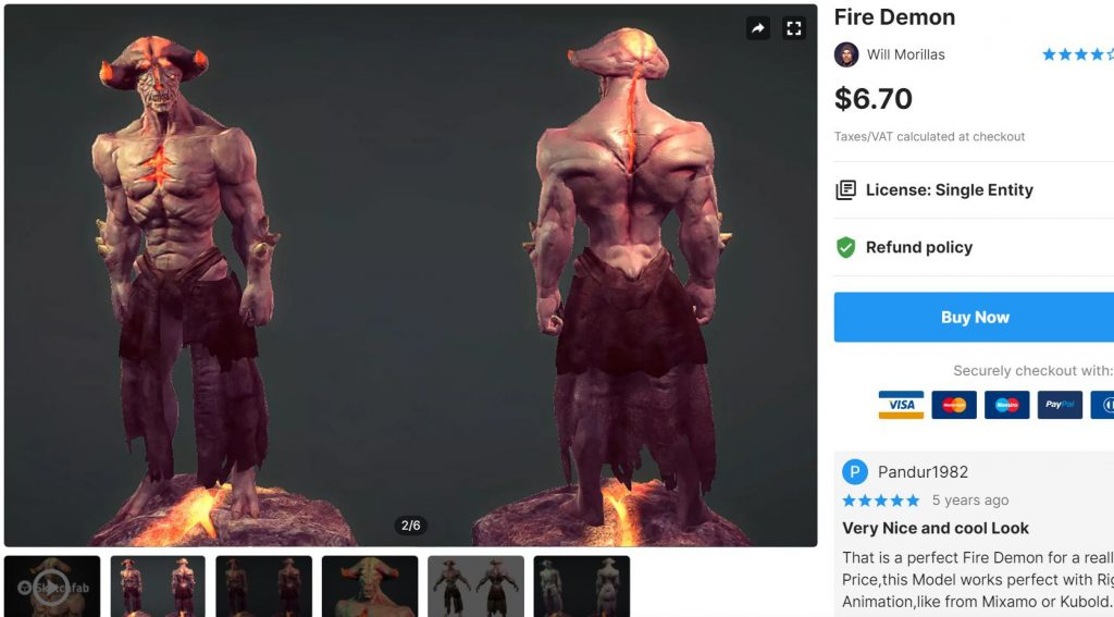 Fire Demon – Free Download Unity Assets