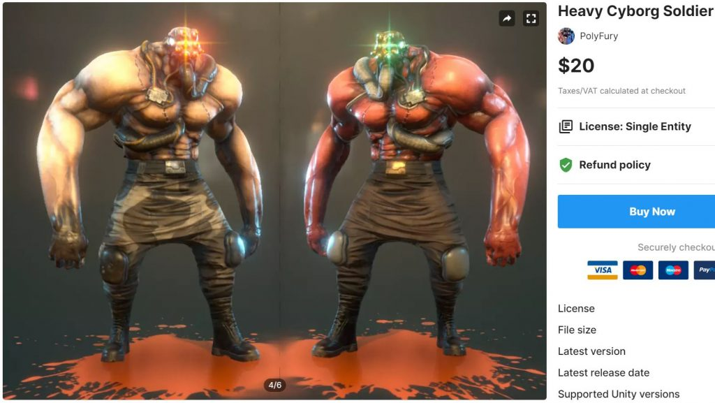 Heavy Cyborg Soldier – Free Download Unity Assets