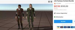 o3n Fantasy Content Bundle – Free Download Unity Assets