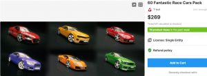 60 Fantastic Race Cars Pack – Free Download Unity Assets