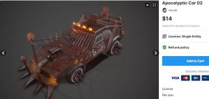 Apocalyptic Car 02 – Free Download Unity Assets