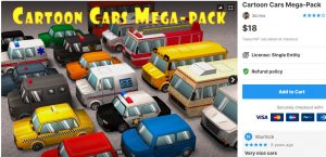 Cartoon Cars Mega-Pack – Free Download Unity Assets
