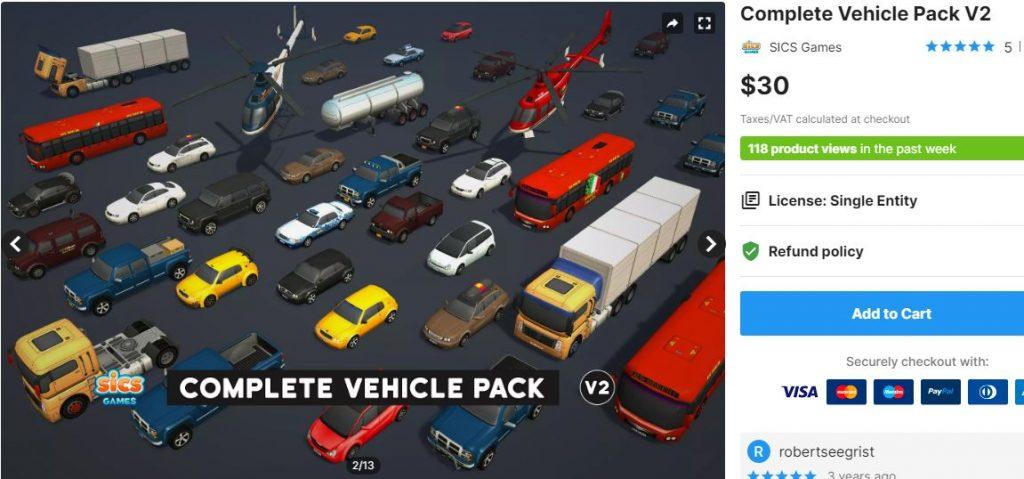 Complete Vehicle Pack V2 – Free Download Unity Assets