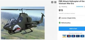 PBR Attack Helicopter of the Vietnam War Era – Free Download Unity Assets