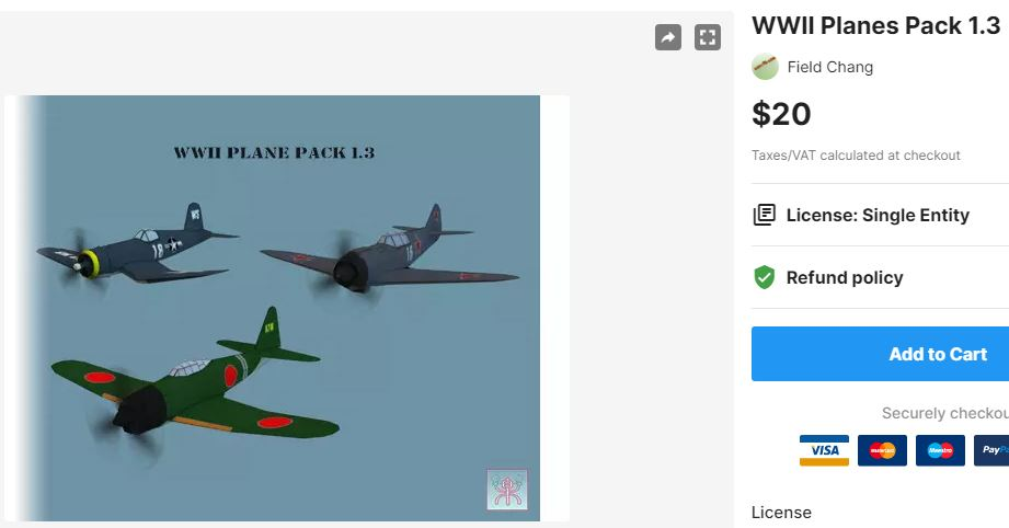 WWII Planes Pack 1.3 – Free Download Unity Assets