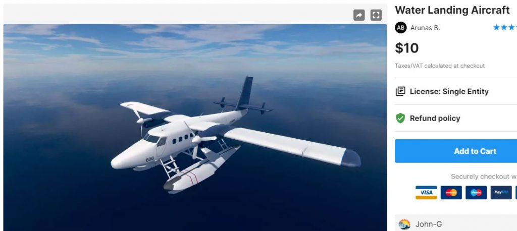 Water Landing Aircraft – Free Download Unity Assets