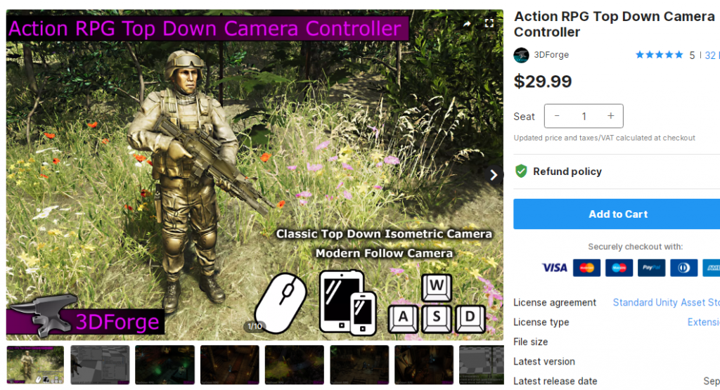 Action RPG Top Down Camera Controller – Free Download Unity Assets
