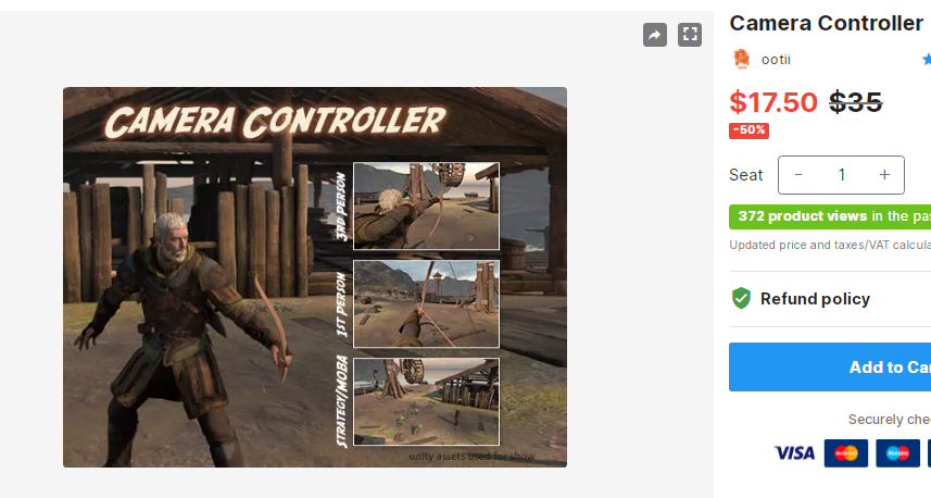 Camera Controller – Free Download Unity Assets