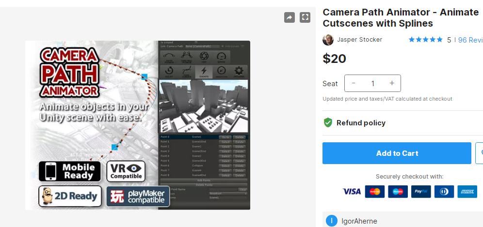 Camera Path Animator - Animate Cutscenes with Splines – Free Download Unity Assets