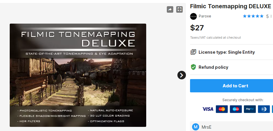 Filmic Tonemapping DELUXE – Free Download Unity Assets