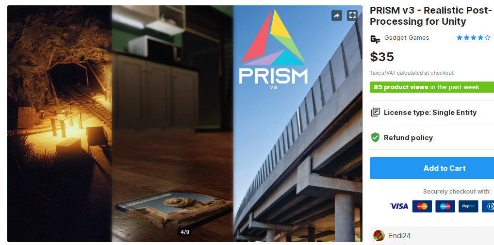PRISM v3 - Realistic Post-Processing for Unity – Free Download Unity Assets