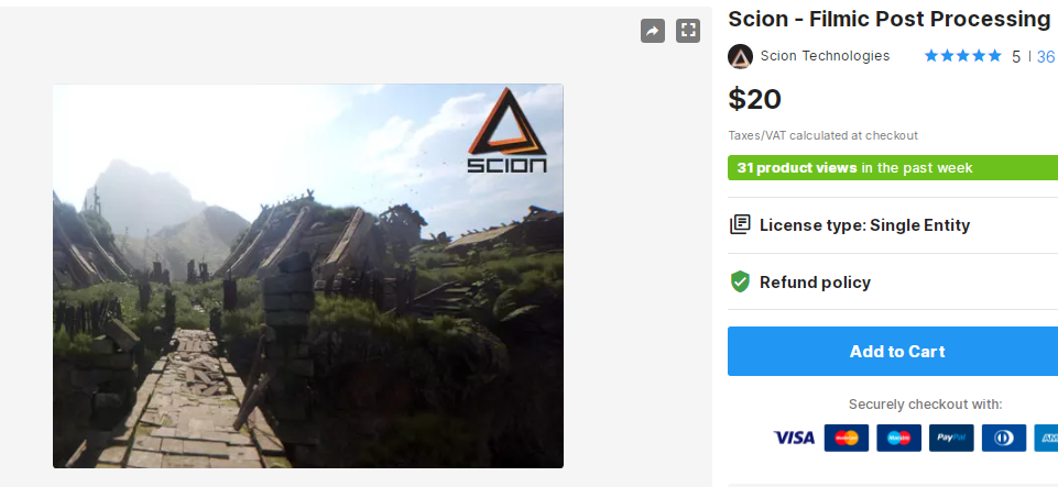 Scion - Filmic Post Processing – Free Download Unity Assets