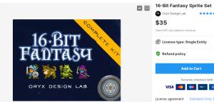 16-Bit Fantasy Sprite Set – Free Download Unity Assets
