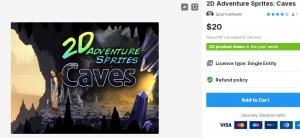 2D Adventure Sprites: Caves– Free Download Unity Assets