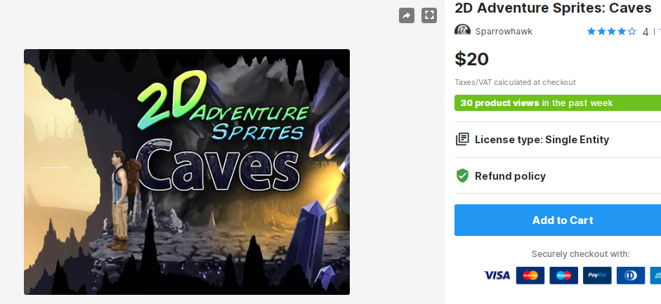 2D Adventure Sprites Caves Free Download Unity Assets