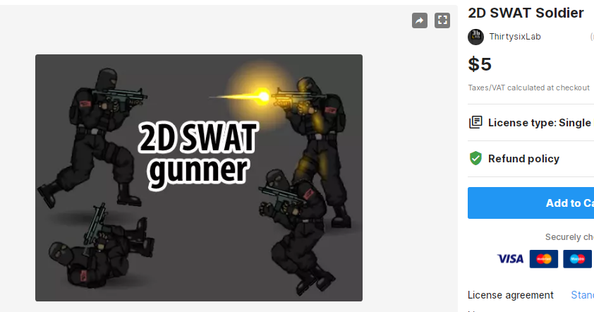 2D SWAT Soldier – Free Download Unity Assets