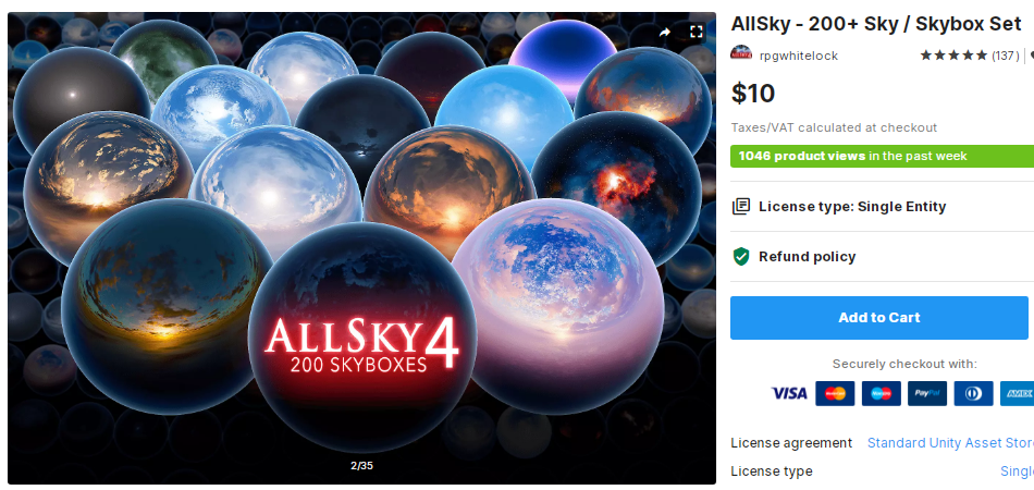 AllSky - 200+ Sky Skybox Set – Free Download Unity Assets