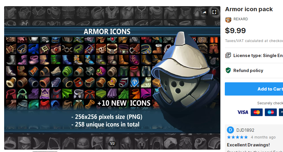 Armor icon pack – Free Download Unity Assets