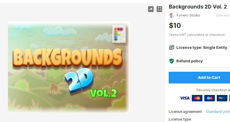 Backgrounds 2D Vol. 2 – Free Download Unity Assets