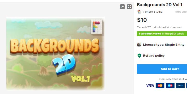 Backgrounds 2D Vol.1 – Free Download Unity Assets