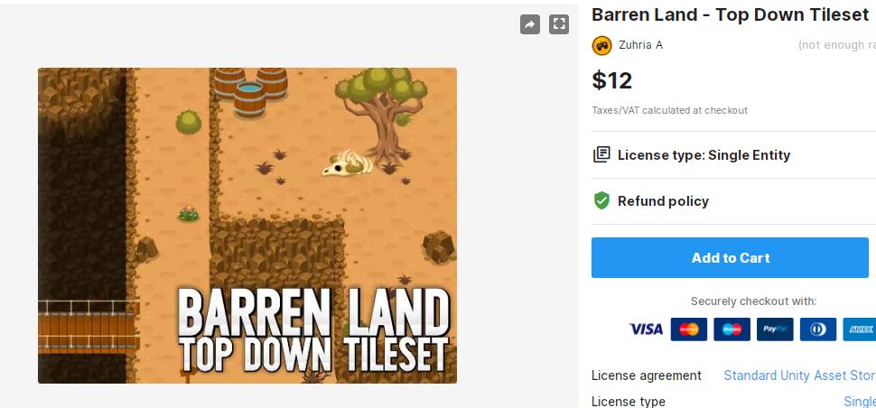Barren Land - Top Down Tileset – Free Download Unity Assets