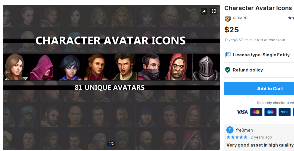 Character Avatar Icons – Free Download Unity Assets
