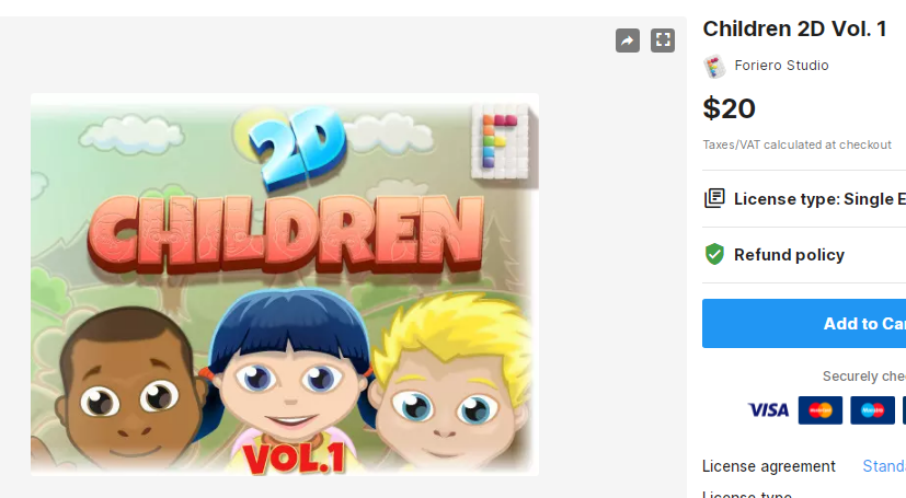 Children 2D Vol. 1– Free Download Unity Assets