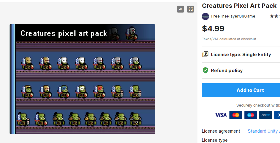Creatures Pixel Art Pack – Free Download Unity Assets