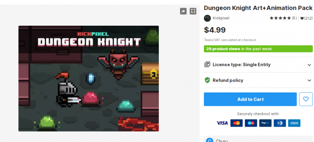 Dungeon Knight Art+Animation Pack – Free Download Unity Assets