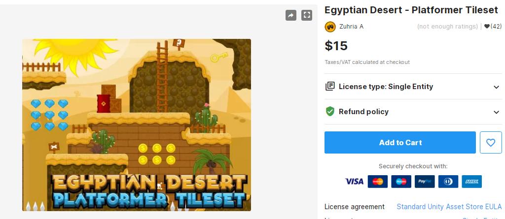 Egyptian Desert - Platformer Tileset – Free Download Unity Assets