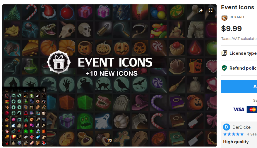 Event Icons – Free Download Unity Assets
