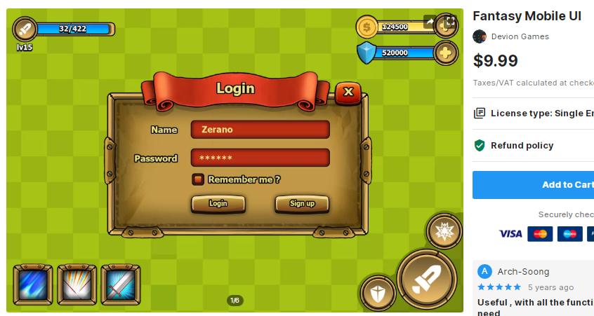 Fantasy Mobile UI – Free Download Unity Assets