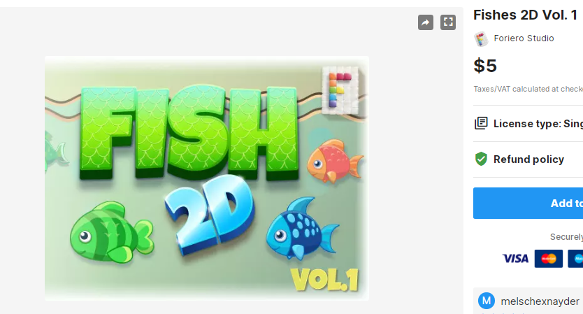 Fishes 2D Vol. 1– Free Download Unity Assets