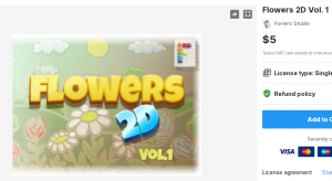 Flowers 2D Vol. 1 – Free Download Unity Assets