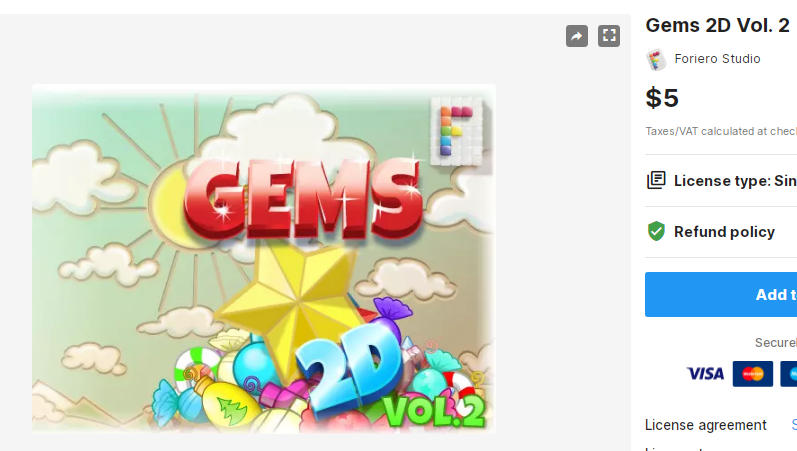 Gems 2D Vol. 2 – Free Download Unity Assets