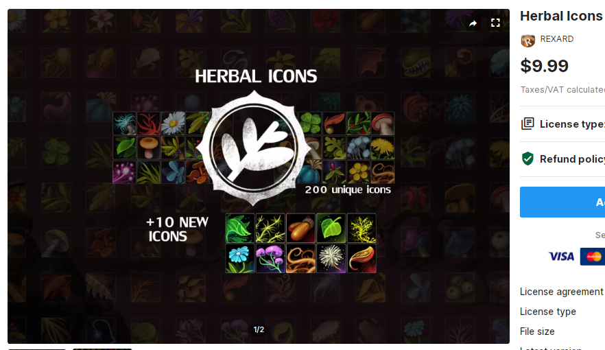 Herbal Icons – Free Download Unity Assets