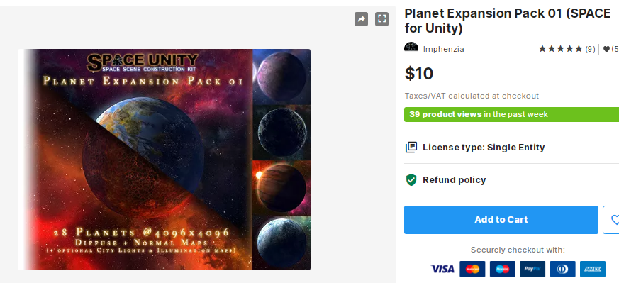 Planet Expansion Pack 01 (SPACE for Unity) – Free Download Unity Assets