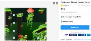 Platformer Tileset : Magic Forest – Free Download Unity Assets