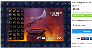 RPG Weapons Icons – Free Download Unity Assets