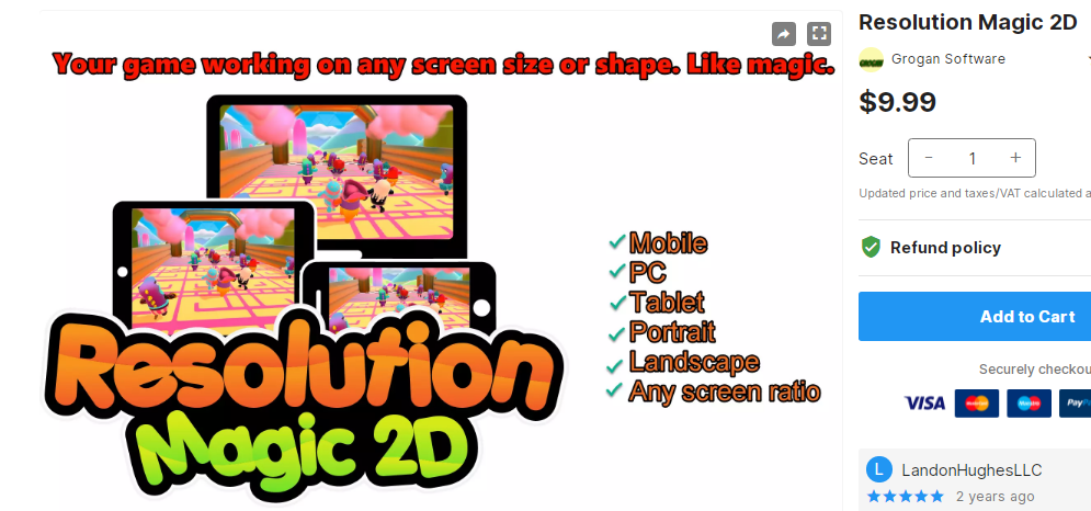 Resolution Magic 2D– Free Download Unity Assets