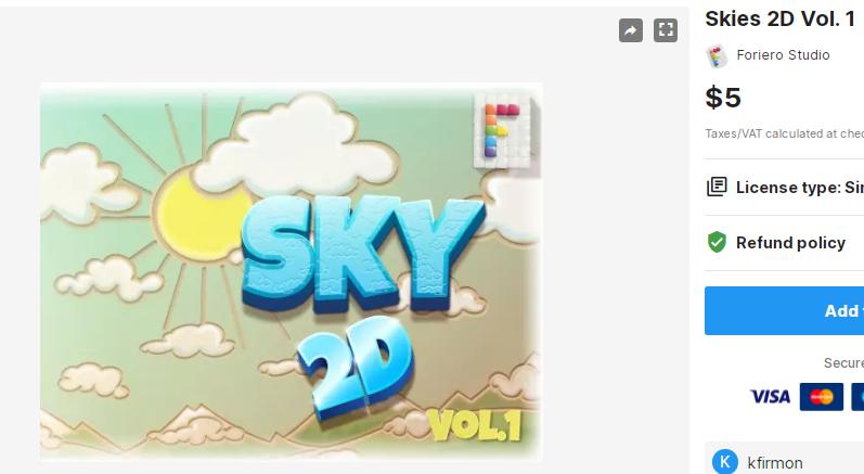 Skies 2D Vol. 1 – Free Download Unity Assets
